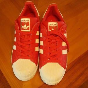 Nib Adidas superstar red size 10